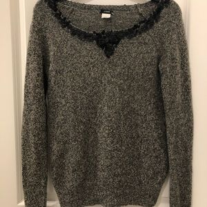 J. Crew Festive Lamb's Wool Sweater